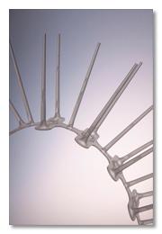 Taubenabwehrspikes von Roder aus Kunststoff - biegsam
